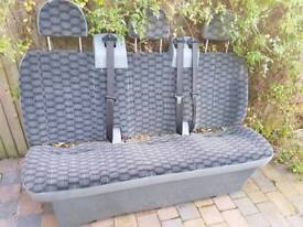 Transit bench seat with belts