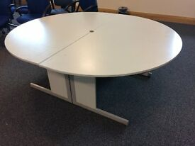 Office Circle Table (two halves)