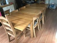 8 / 6 seater table and chairs