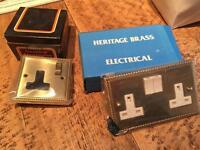 Heritage Brass Brand New Light Switch Sockets