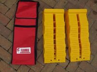 FIAMMA LEVEL UP JUMBO RAMPS + STORAGE BAG, CHOCKS, & ANTI-SLIP PLATES