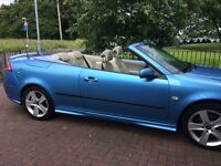 Saab 9-3 Aero 2000cc automatic Colour Cerulean Blue with Parchment two tone leather seats