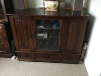 Dark oak hi fi cabinet. Could also be used as drinks cabinet. for sale  Ruddington, Nottinghamshire