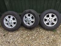 Land Rover Freelander Alloy Wheels x3 Wheels 195 15 inch