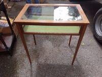 Glass showcase table