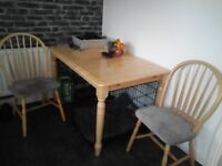 Kitchen Extending Dining Table And 6 Chairs