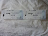 2 tickets Jean Michel Jarre front stalls seated Glasgow SSE Hydro Friday 14th October 2016