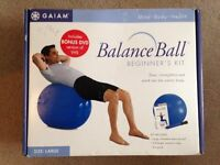 LARGE BALANCE EXERCISE BALL by GAIAM