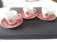 set of 3 cups for coffee from Silea