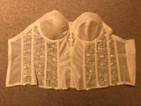 Vintage style bridal basque 32F NEVER WORN!