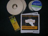 Gyproc metal corner tape x2, paper tape x2 fibreglass joint tape x2 + pole sander pad