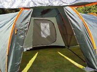 6 man Regatta tent, 3 sleeping areas ,never used £90.00p