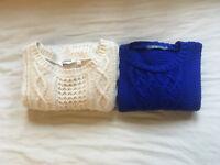 Ladies jumpers - size 8