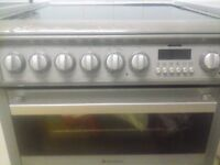 HOTPOINT ELECTRIC COOKER OVEN APPLIANCES SILVER GRILL