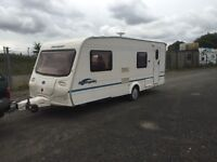 bailey ranger 550/6 2006 berth full size awning 12/240v hot and cold running water side dinnete f