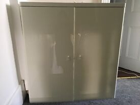 Ikea mirrored dressing cabinet with high chair