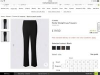 Ladies pull on ponte trousers size 18 long