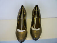 John Lewis Collection Ladies bronze effect heeled shoes