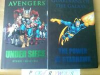 Lot-of-2-Premiere-Hc-Avengers-Siege+Guardians of the Galaxy-The-Power-of-starhawk