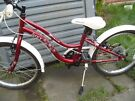 Girls Apollo ivory mountain bike. used but in VGC, 10.5 inch frame , 20 inch wheels