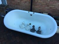 Cast Iron Roll Top Double Ended Bath With Feet