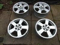 Four 16 inch/5 stud alloy wheels for Skoda Octavia, VW Golf, Seat Leon/Toledo, Audi A4 etc.