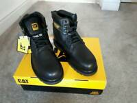 Black steel cap caterpillar boots. Size 6