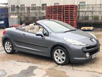 2008/58 PEUGEOT 207CC SPORT CONVERTIBLE 34500 low mileage with FSH