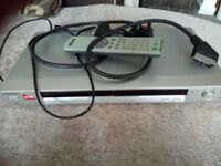 Sony dvd recorder and player with scartlead and remote control