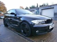 ** NEWTON CARS ** 08 BMW 123D M-SPORT, TWIN TURBO, REMAPPED, PART S/H, ALLOYS, LEATHER, MOT MAR 2018