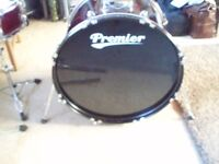 Pristine Premier Olympic full drum kit with upgrades