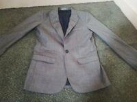 Boys next sp designer suit jacket age 11 grey vgc £7.50