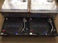 2 X Technics SL-1210 MK5G Turntables With Original Lids & Ortofon Pro Needles