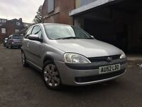 52 Vauxhall corsa 1.2 sxi silver 3 door moted October