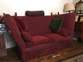 Mulberry England 2 seater classic 'Knole' sofa. Rarely available collectors item.