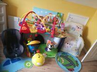 Baby Nursery Toys, Travel Cot, Car Seat, Play Mats etc