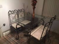 Dining Table & Chairs (Glass)