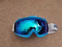Ruroc RG1-X Ski Goggles Blue With White Strap - Size M/L