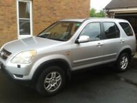 EXCELENT DRIVER HONDA CR-V 2.0 i-VTEC SE EXECUTIVE SUV 5dr PETROL MANUAL MOT 05/19 OR SWAP