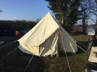 Secondhand 4 Mitre 350grm Canvas Bell Tent With Heavy Duty Groundsheet