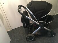 Black oyster pushchair