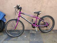 Islabikes Beinn 20 Large - Children's Lightweight Bike Purple Isla Islabike Frog