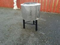 Fire pit wood burner patio heater