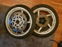 Set of RS 125 wheels