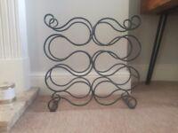 Black iron wine rack for sale
