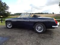 1971 MGB Roadster in Midnight Blue