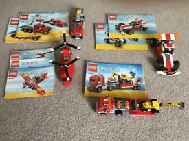 Lego creator, four sets with instructions