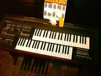 YAMAHA ORGAN. REALISTIC PIANO ACTION FEEL. MULTIPLE INSTRUMENTS AND DRUM BEATS, BASS PEDAL BOARD.