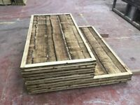 Waneylap wooden fence panels 10mm boards pressure treated green