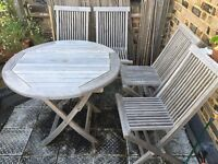Outdoor Teak Table and Chairs